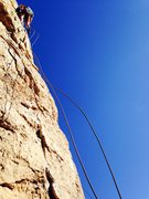 Rock Climbing Photo: Dusty Elliott on Red Dog top roping after my lead ...