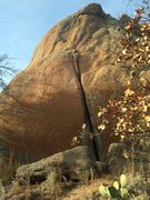 Rock Climbing Photo: Piranha crack.