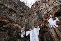 Rock Climbing Photo: Nate Erickson fighting loose turf on Turf Wars. Ja...