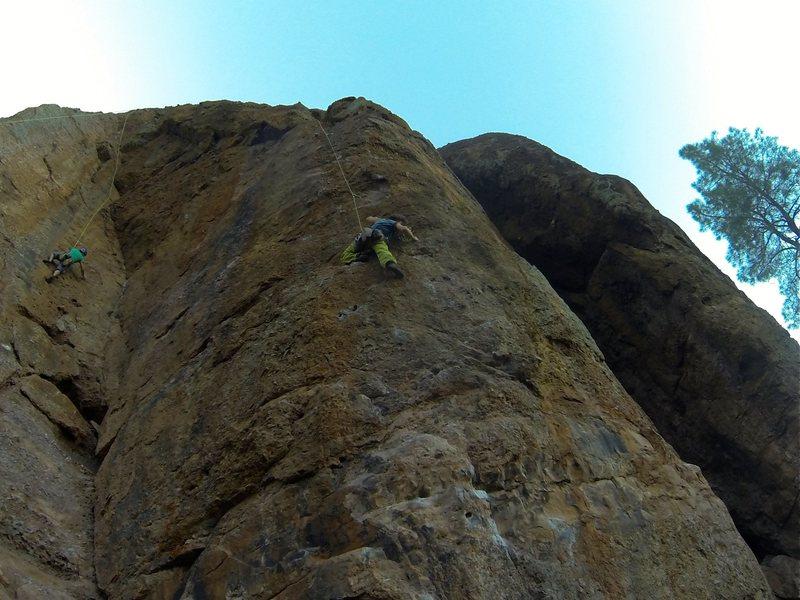 Nice climb, steep and good holds