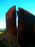 Rock Climbing Photo: Plumbers Crack in Red Rock