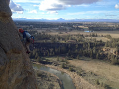 Rock Climbing Photo: P3, fun traverse
