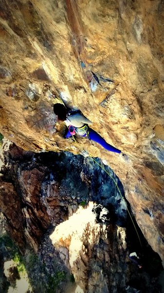 Rock Climbing Photo: Looking down at the business.