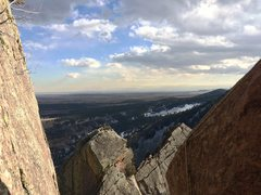 Rock Climbing Photo: Denver from the top of the Arete, before the last ...