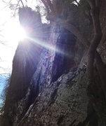 Rock Climbing Photo: Winter sun on the Butter Knife