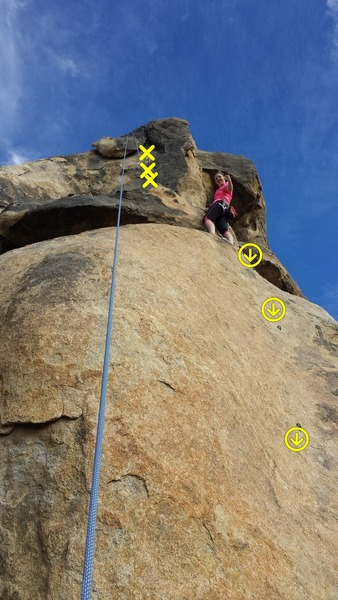 Rock Climbing Photo: Lead this clean, you can see the first three bolts...