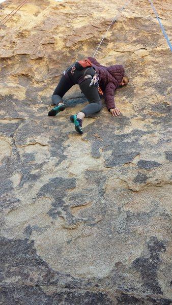 Rock Climbing Photo: Awkward Crab beta.