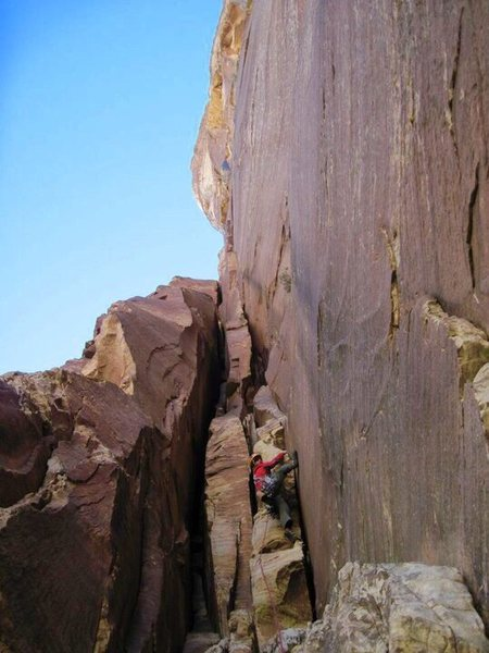Rock Climbing Photo: Entering the belly of the beast!!!