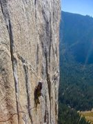 Rock Climbing Photo: Kyle Weinstein high on the Muir!!!