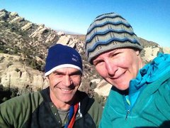 Rock Climbing Photo: Chad Parker and Staci Otto At the top of second pi...