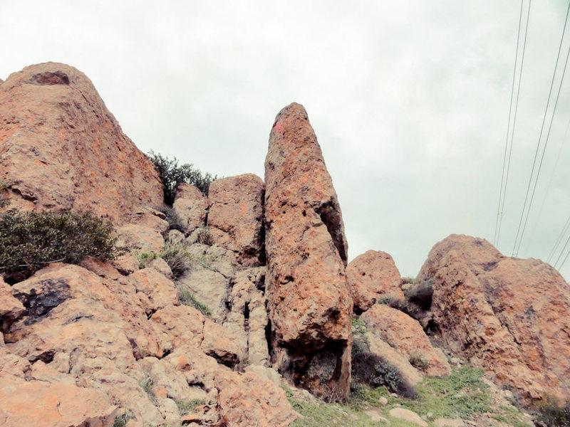 Rock Climbing Photo: High School Big Shot. Torgo in the upper left.