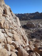 Rock Climbing Photo: The Alpentine Wall on a winter afternoon.