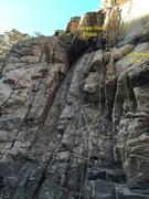 Rock Climbing Photo: Single Track 5.10c/d at the Single Malt Wall