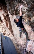 Rock Climbing Photo: Mike Snyder cruising the upper part of Single Trac...