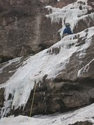 Rock Climbing Photo: Thin, but in. Very warm. Water running under and o...