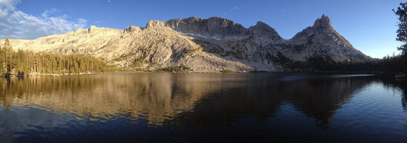 Rock Climbing Photo: Our camp spot at Young Lakes the night before our ...