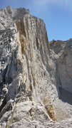 Rock Climbing Photo: Looking up the west ridge. Class 4, but lots of ex...