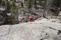 Rock Climbing Photo: Dede on P1 Summit Fever.