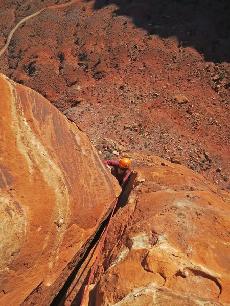 Emily finishes the crux OW of P2.