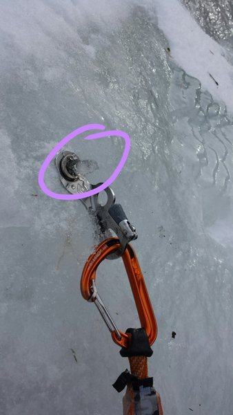 Ice growing out of the screw