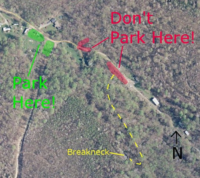 Rock Climbing Photo: New parking info for Breakneck!