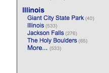Illinois shows up as a sub category where it shouldn't