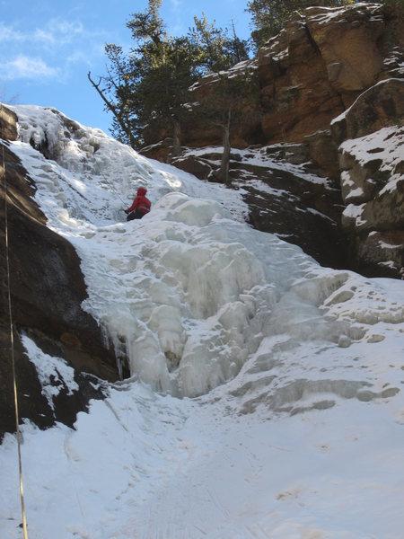 Rock Climbing Photo: Left side. (Tim cruising.)