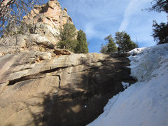Rock Climbing Photo: The rock above is apparently Chimney Rock. About h...