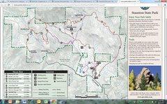 Rock Climbing Photo: Staunton State Park map.