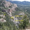 Photo copied from the SSP page, view from Elk Falls Overview.  Some foreshortening noted.