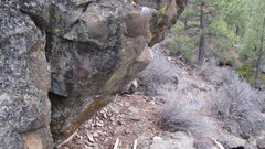 Rock Climbing Photo: hot head; steeper than it looks