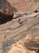 Rock Climbing Photo: Aaron following P3...