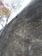 Rock Climbing Photo: Frost on the traverse section during the FA. The s...
