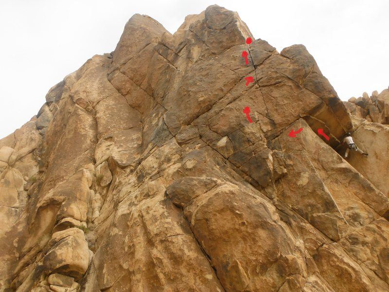 Rock Climbing Photo: Wandering Winnebago approximate line P1