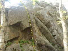 Rock Climbing Photo: This route may feel more like a highball than a ro...