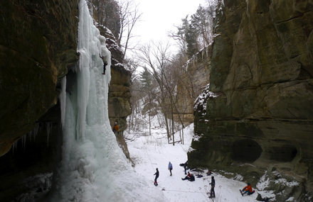 Another great ice climb at Starved Rock State Park