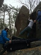 Rock Climbing Photo: Andrew Nelson a few moves in on the second accent ...