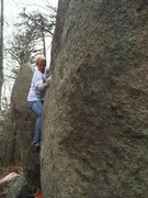 "Rock Climbing Photo: Andrew Nelson making moves on ""Slippery when ..."