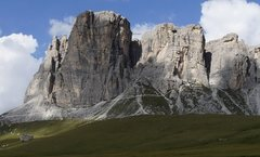 Rock Climbing Photo: The south face of Lastoni di Formin and the approa...