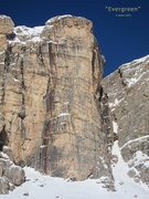 Rock Climbing Photo: The topo of the route