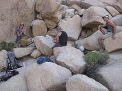 Rock Climbing Photo: One of the best things about climbing: Talking tra...