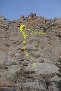 Rock Climbing Photo: High Steppin'.