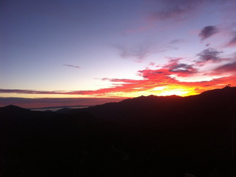 Rock Climbing Photo: Sunset from Los padres NF near ojai