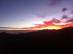 Rock Climbing Photo: Sunset from Los padres NF near ojai
