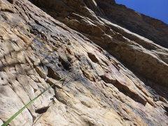 Rock Climbing Photo: Evan on Huecool Junior