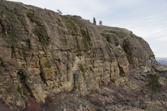 Rock Climbing Photo: West Wall from the NE (with the west face of Big B...