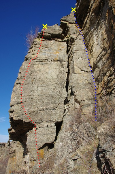 Rock Climbing Photo: Who Knows Where the Time Goes topo;