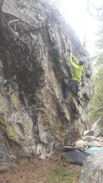 Rock Climbing Photo: Schwartz entering the finishing crux