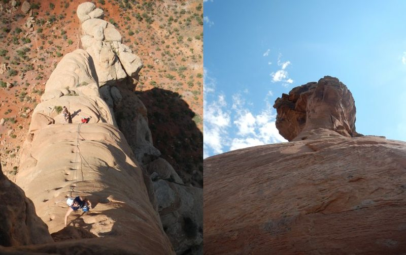 Rock Climbing Photo: Heading to the summit.