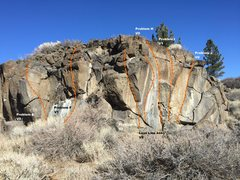 Rock Climbing Photo: Sector B Right Topo